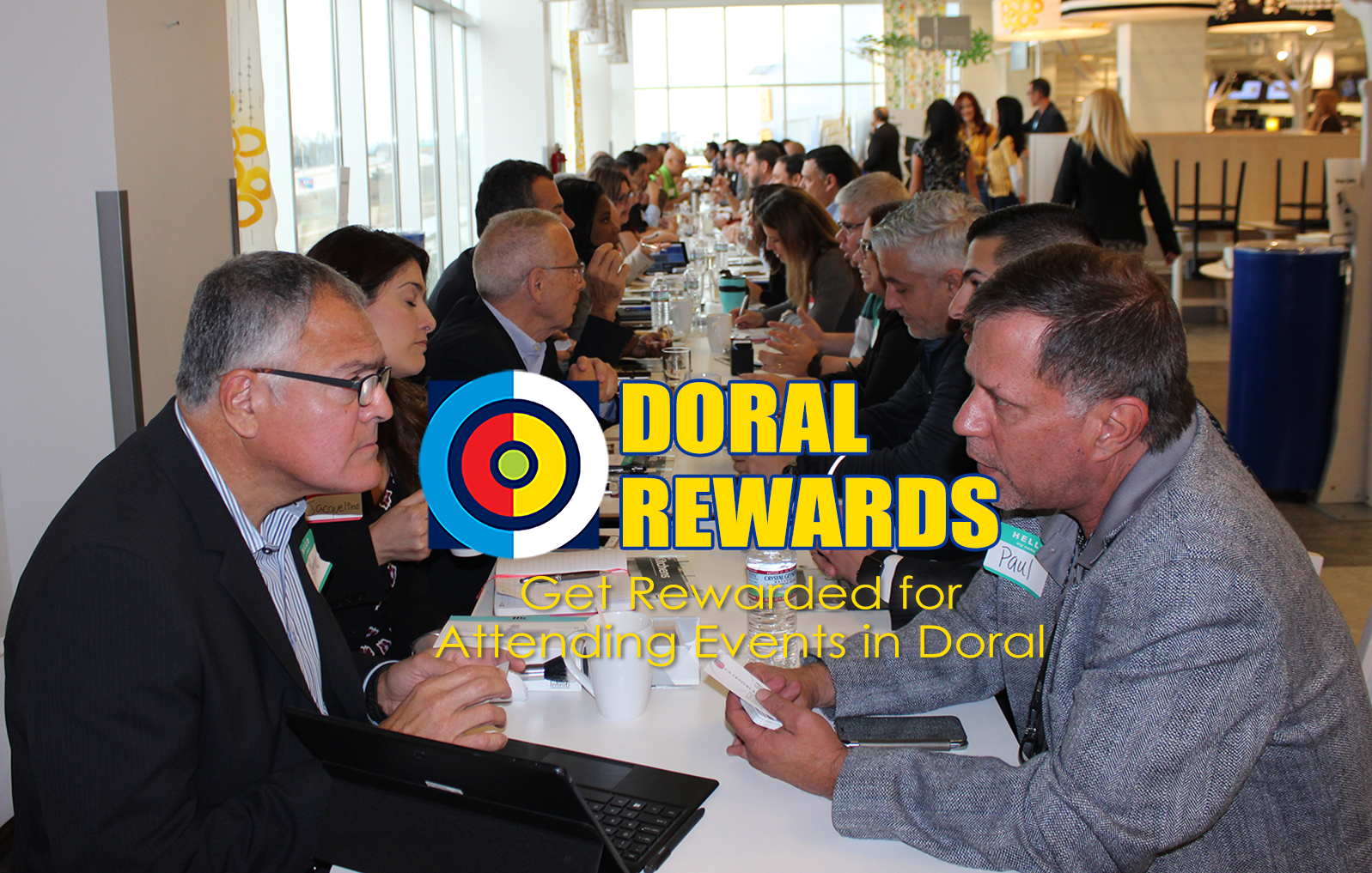 Doral Rewards while Networking at the Doral Chamber of Commerce.